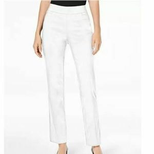 JM Collection PXL Bright White Pull On Pants 4AE83